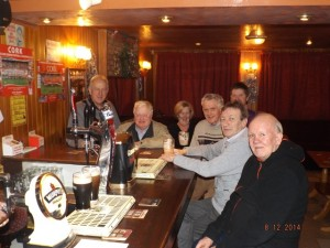 The Lotto Committee and supporters in the Local Bar, Carraig na bHFear Mon 8th Dec 2014