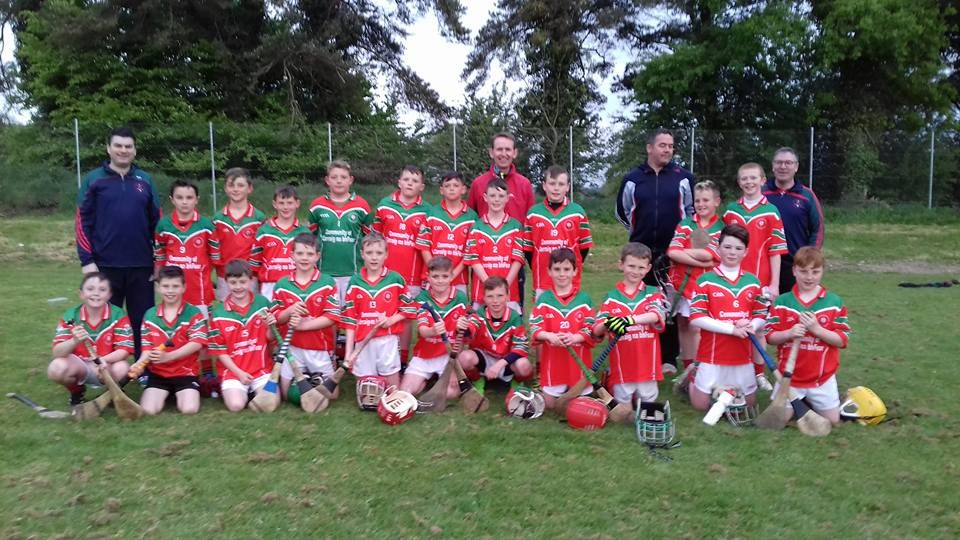 The Carraig na bhFear U12 hurlers who defeated Cloughduv in the league.