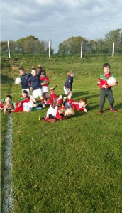 Our U6's warming down after a hard nights training