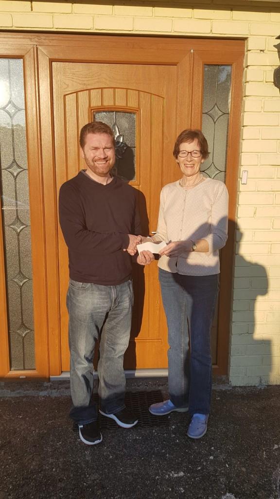 Catherine Wilkes cheque photo