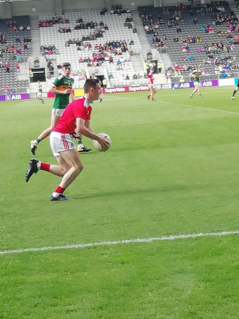 Carraigs Tadhg O'Donoghue in action for the Cork Minor Footballers